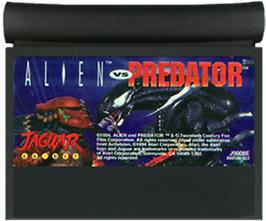 Cartridge artwork for Alien vs. Predator on the Atari Jaguar.
