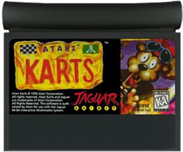 Cartridge artwork for Atari Karts on the Atari Jaguar.