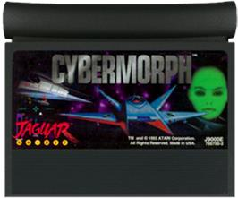 Cartridge artwork for Cybermorph on the Atari Jaguar.