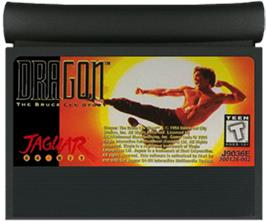 Cartridge artwork for Dragon: The Bruce Lee Story on the Atari Jaguar.