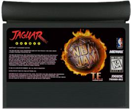 Cartridge artwork for NBA Jam TE on the Atari Jaguar.