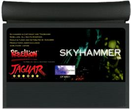 Cartridge artwork for Skyhammer on the Atari Jaguar.