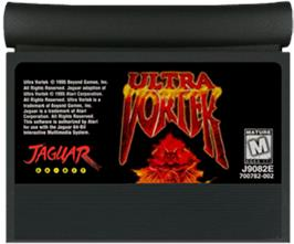 Cartridge artwork for Ultra Vortek (Beta) on the Atari Jaguar.