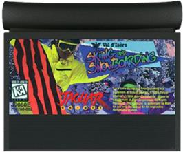 Cartridge artwork for Val d'Isère Skiing and Snowboarding on the Atari Jaguar.