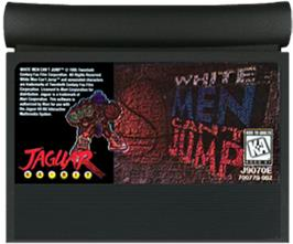 Cartridge artwork for White Men Can't Jump on the Atari Jaguar.