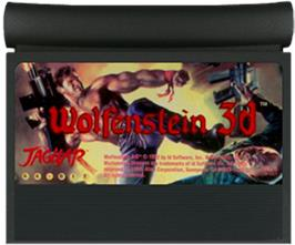 Cartridge artwork for Wolfenstein 3D on the Atari Jaguar.