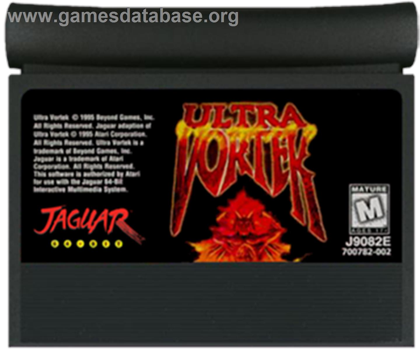 Ultra Vortek (Beta) - Atari Jaguar - Artwork - Cartridge