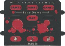 Overlay for Wolfenstein 3D on the Atari Jaguar.