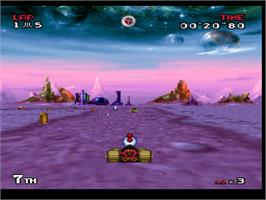 In game image of Atari Karts on the Atari Jaguar.