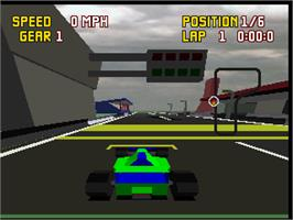 In game image of Checkered Flag on the Atari Jaguar.