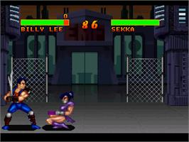 In game image of Double Dragon V: The Shadow Falls on the Atari Jaguar.