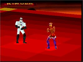 In game image of Fight For Life on the Atari Jaguar.