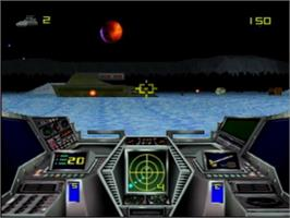 In game image of Hover Strike on the Atari Jaguar.