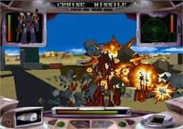 In game image of Iron Soldier 2 on the Atari Jaguar.