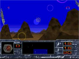 In game image of Missile Command 3D on the Atari Jaguar.