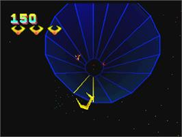 In game image of Tempest 2000 on the Atari Jaguar.