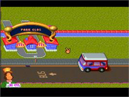 In game image of Theme Park on the Atari Jaguar.