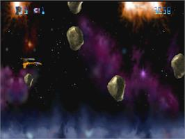 In game image of Trevor McFur In The Crescent Galaxy on the Atari Jaguar.