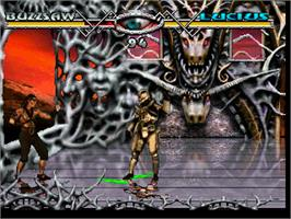 In game image of Ultra Vortek (Beta) on the Atari Jaguar.