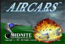 Title screen of AirCars on the Atari Jaguar.