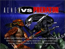 Title screen of Alien vs. Predator on the Atari Jaguar.