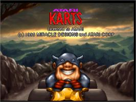 Title screen of Atari Karts on the Atari Jaguar.