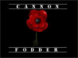 Title screen of Cannon Fodder on the Atari Jaguar.