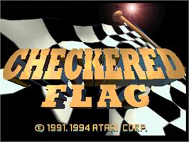 Title screen of Checkered Flag on the Atari Jaguar.