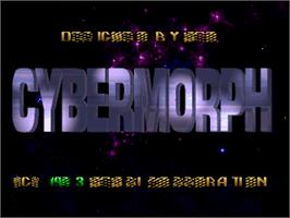 Title screen of Cybermorph on the Atari Jaguar.