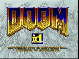 Title screen of Doom on the Atari Jaguar.