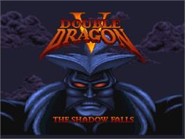 Title screen of Double Dragon V: The Shadow Falls on the Atari Jaguar.
