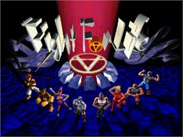 Title screen of Fight For Life on the Atari Jaguar.