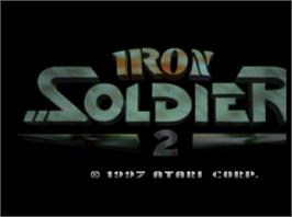 Title screen of Iron Soldier 2 on the Atari Jaguar.