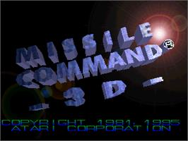 Title screen of Missile Command 3D on the Atari Jaguar.