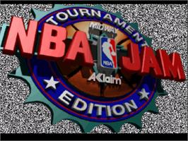 Title screen of NBA Jam TE on the Atari Jaguar.
