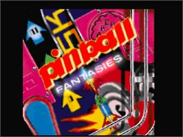 Title screen of Pinball Fantasies on the Atari Jaguar.