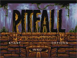 Title screen of Pitfall: The Mayan Adventure on the Atari Jaguar.