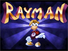 Title screen of Rayman on the Atari Jaguar.