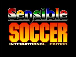 Title screen of Sensible Soccer: International Edition on the Atari Jaguar.
