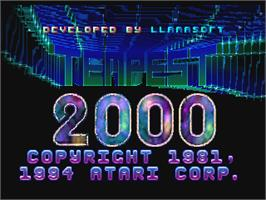 Title screen of Tempest 2000 on the Atari Jaguar.