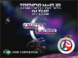Title screen of Trevor McFur In The Crescent Galaxy on the Atari Jaguar.
