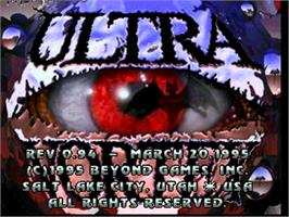 Title screen of Ultra Vortek (Beta) on the Atari Jaguar.