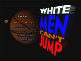 Title screen of White Men Can't Jump on the Atari Jaguar.
