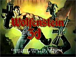 Title screen of Wolfenstein 3D on the Atari Jaguar.
