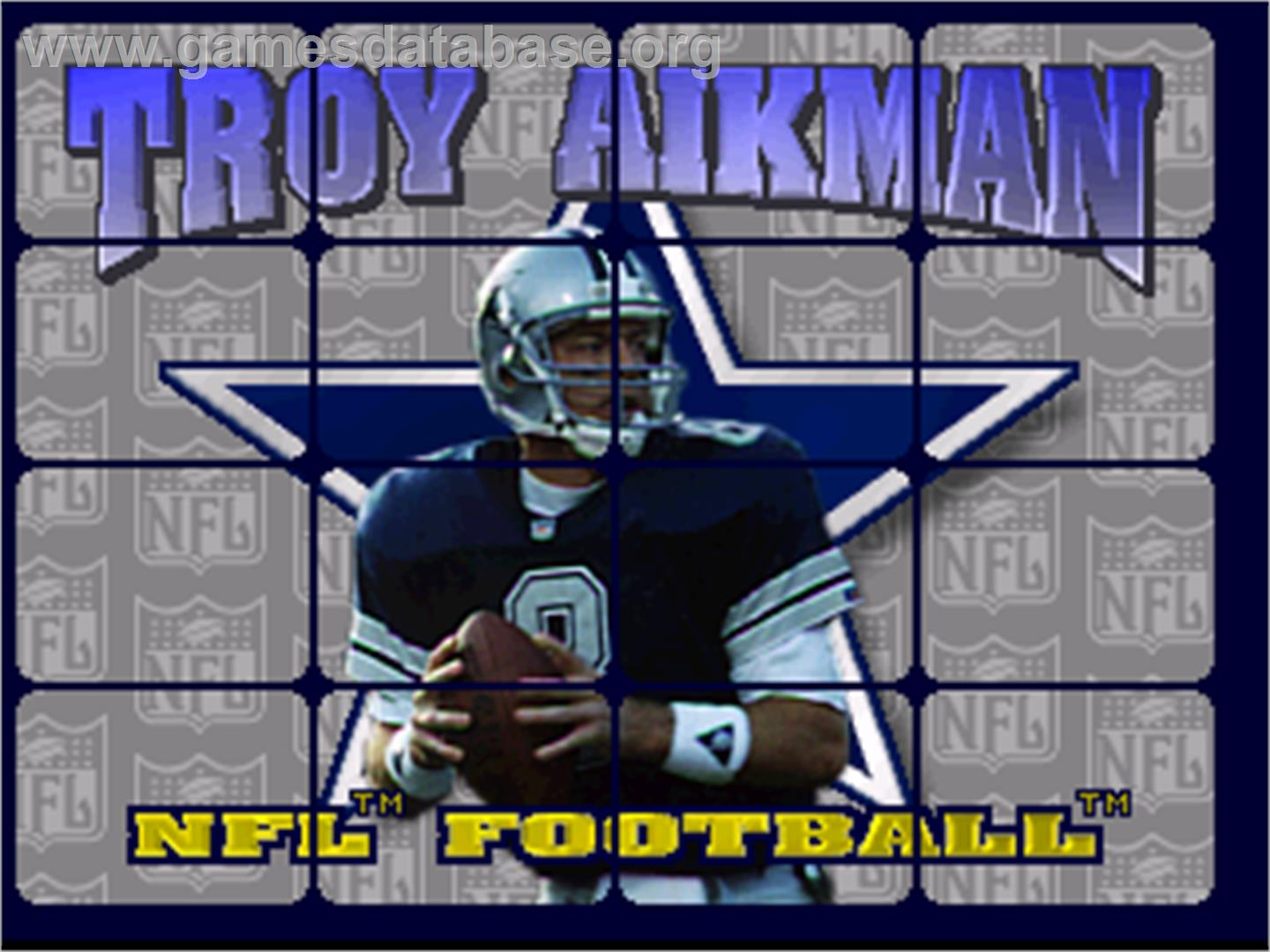 Troy Aikman NFL Football - Atari Jaguar - Artwork - Title Screen