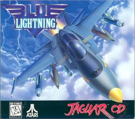 Box cover for Blue Lightning on the Atari Jaguar CD.