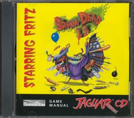 Box cover for BrainDead 13 on the Atari Jaguar CD.