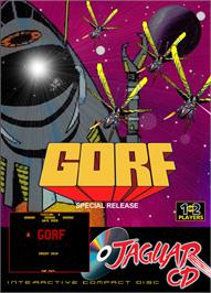 Box cover for GORF Classic on the Atari Jaguar CD.