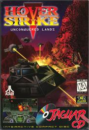 Box cover for Hover Strike Unconquered Lands on the Atari Jaguar CD.