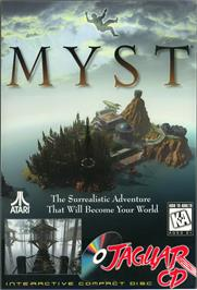 Box cover for Myst on the Atari Jaguar CD.